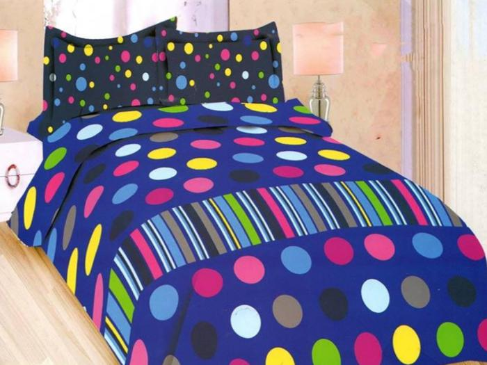 SPREI BONITA EVERBEST No.1 KING 180 SEPRAI POLKA DOT GARIS WARNA WARNI Exclusive