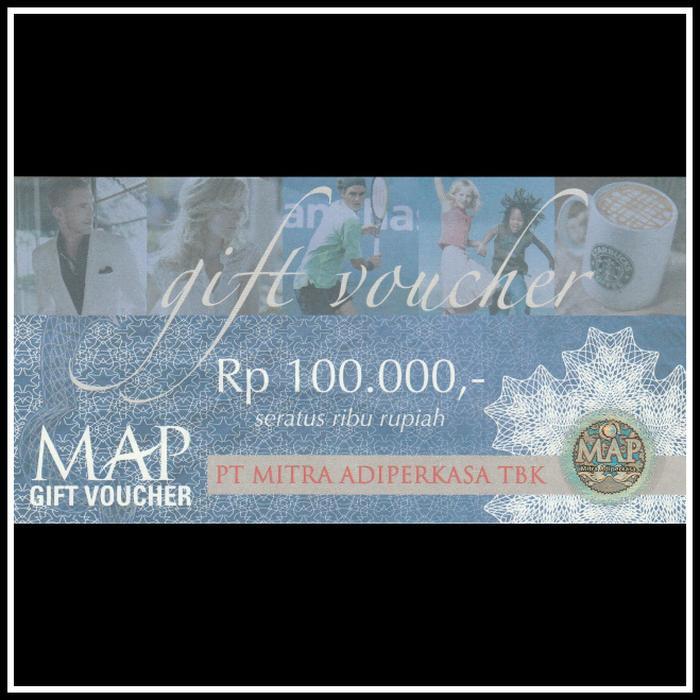 Promo Voucher MAP Gift Voucher Nominal 100.000 / 100000 / 100rb original