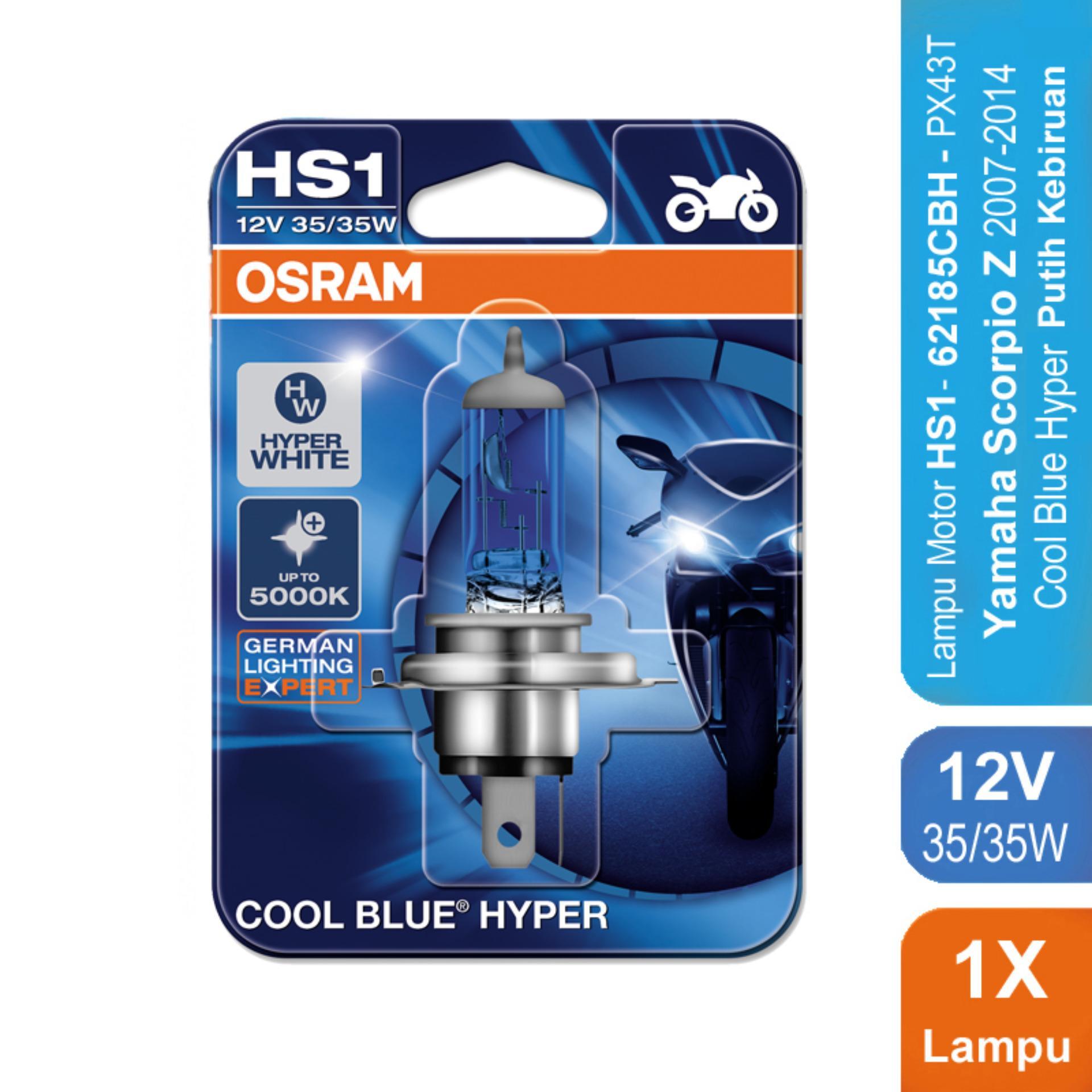 Osram Lampu Motor Yamaha Scorpio Z 2007-2014 - HS1 62185CBH 12V 35/35 - Cool Blue Hyper