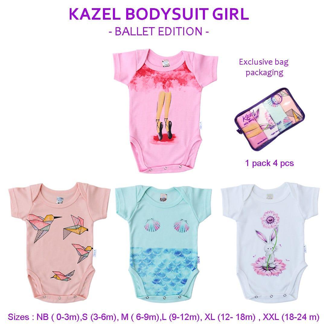 Kazel Bodysuit/ Jumper Bayi Motif Ballet Edition Isi 4