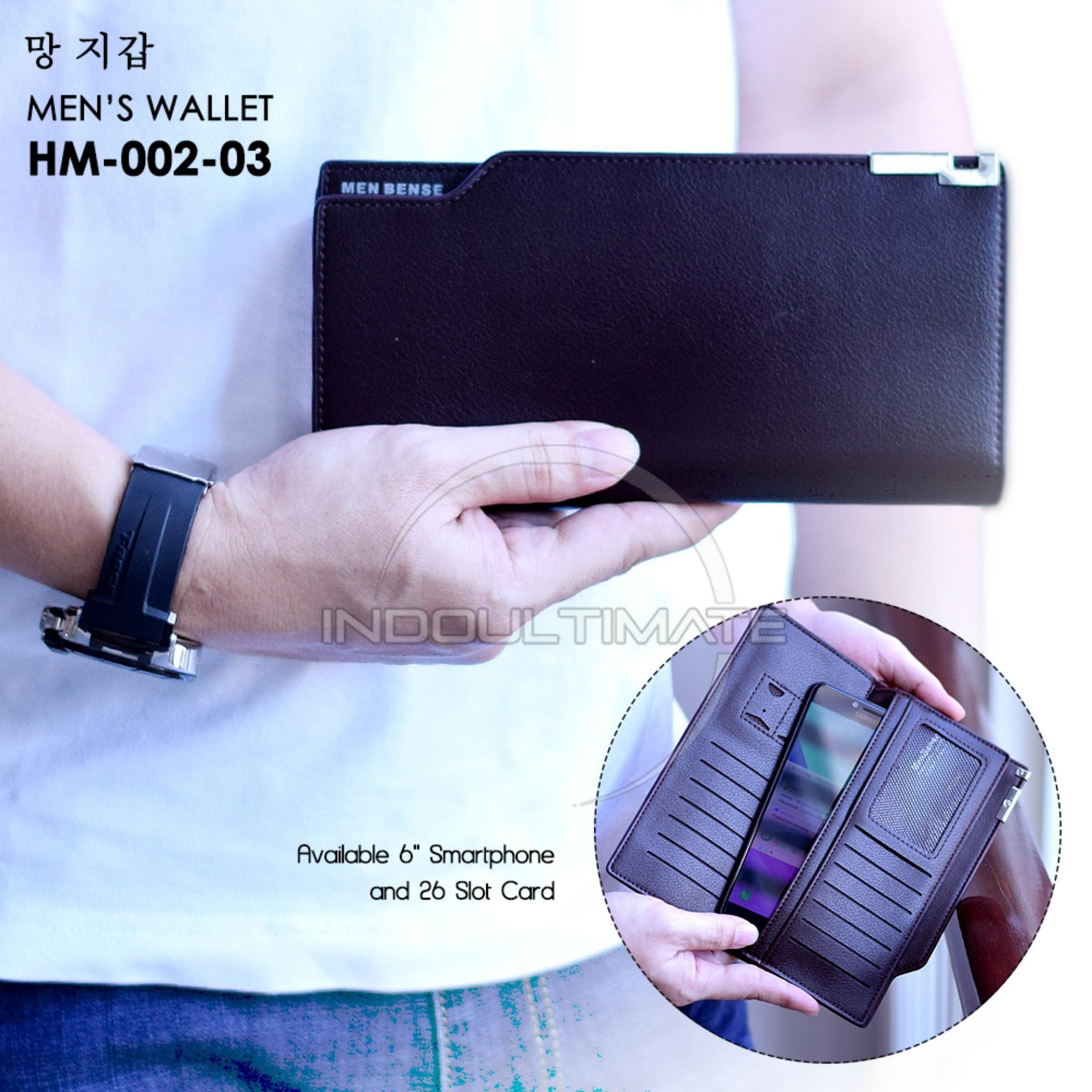 Ultimate Dompet Pria HM-MBS-002-03 - Black / Dompet Cowok Kartu ATM Panjang Lipat Kulit Import Murah
