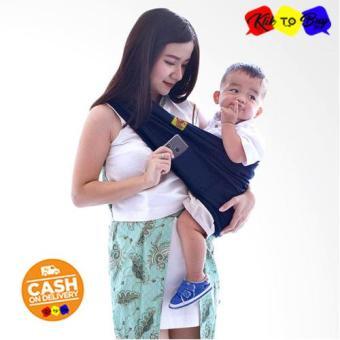 Harga preferensial KTB Gendongan Bayi Premium Original / Gendongan Kaos Geos GEOS Little Hippo Size L