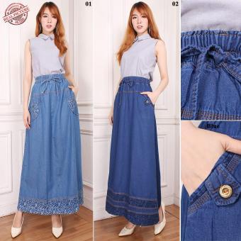 Price Checker Miracle Rok Panjang Amara Maxi Jeans Payung Wanita pencari harga - Hanya Rp77.720