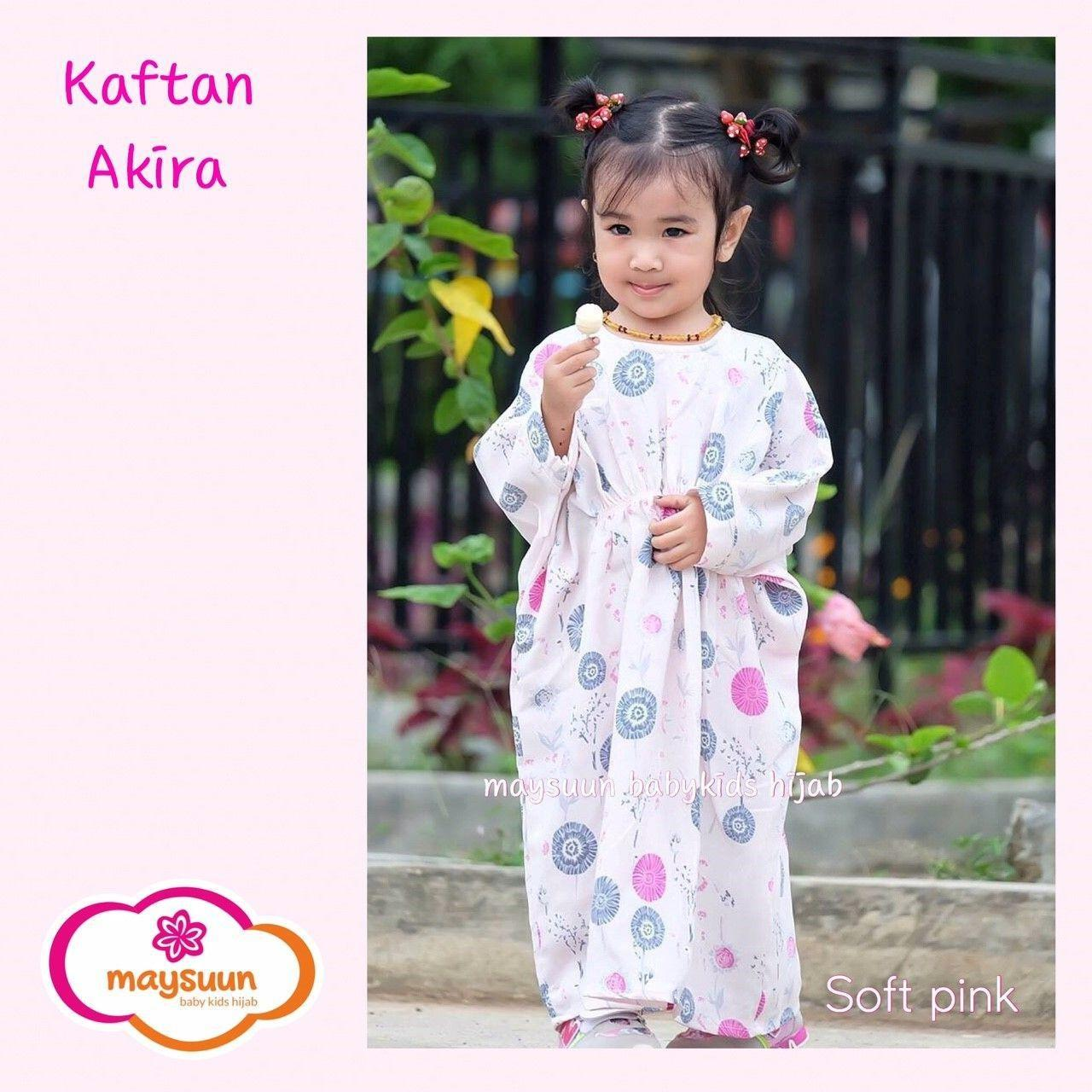Fairuz Hijab, TERMURAH !!, Kaftan Anak Cewek Terbaru, Baju Muslim Anak Perempuan Lucu, Busana Muslim Anak Modern Warna Soft Pink