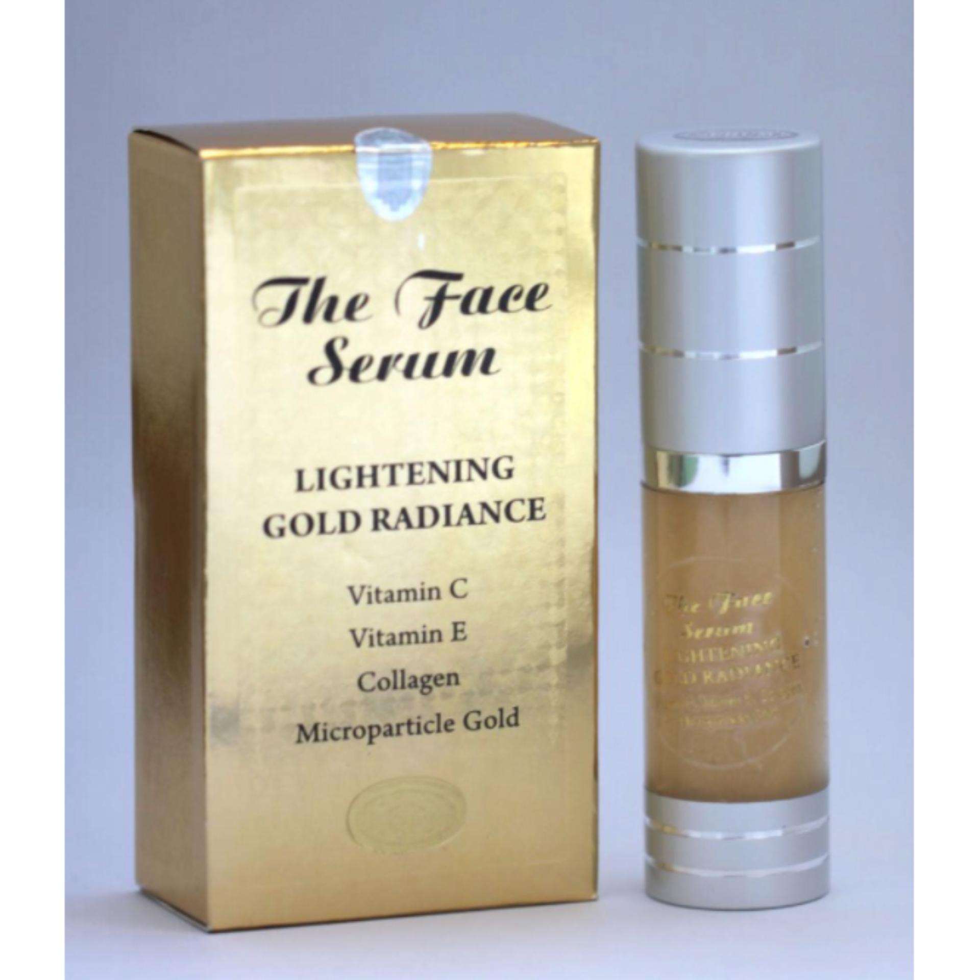 THE FACE SERUM LIGHTENING GOLD RADIANCE VIT C VIT E COLLAGEN
