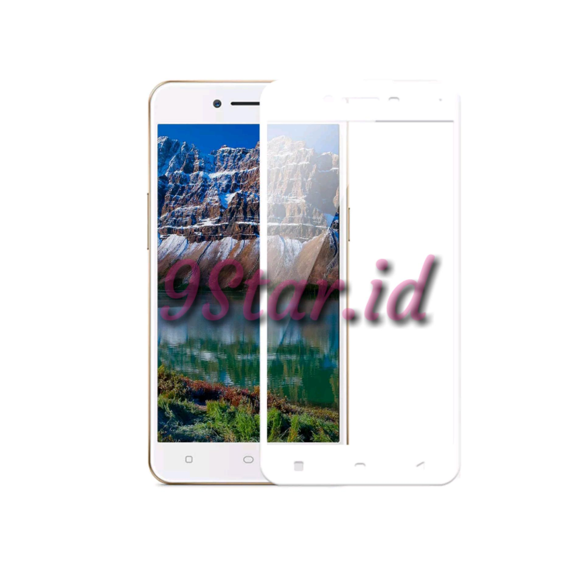 9Star Tempered Glass / Screen Protector For Oppo Neo 9 A37 Full Screen 2.5D List Putih