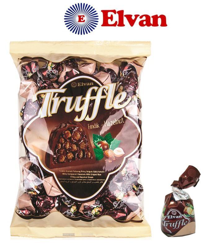 Coklat Elvan Truffle 500 gram - Hazelnut