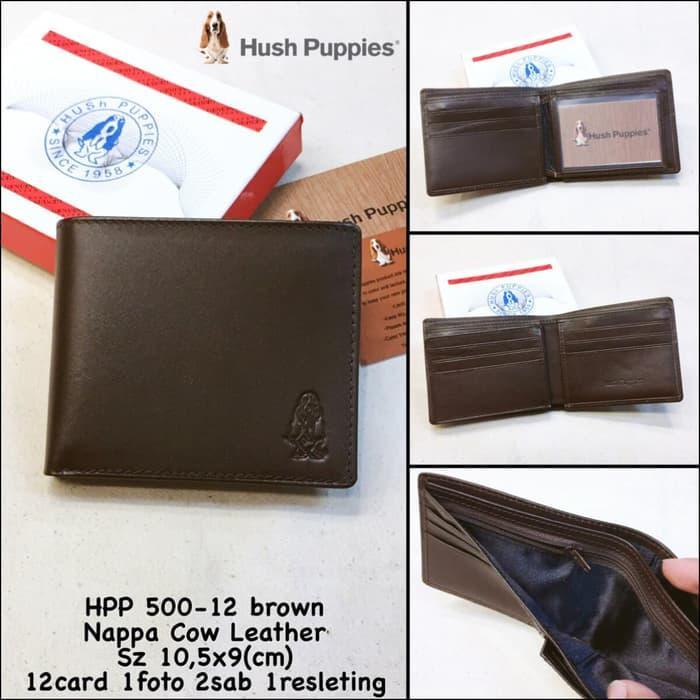 Best Top Seller!! Promo Dompet Pria Hush Puppies 500-12 Brown Super Premium Dompet Kulit - ready stock