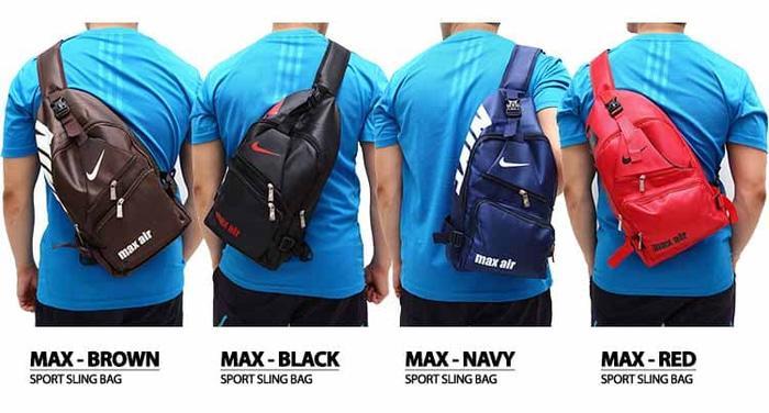 HOT PROMO!!! SLING BAG TAS OLAHRAGA SLING FUTSAL TAS SEPATU FUTSAL MAX AIR TRAINING - 3oEzac