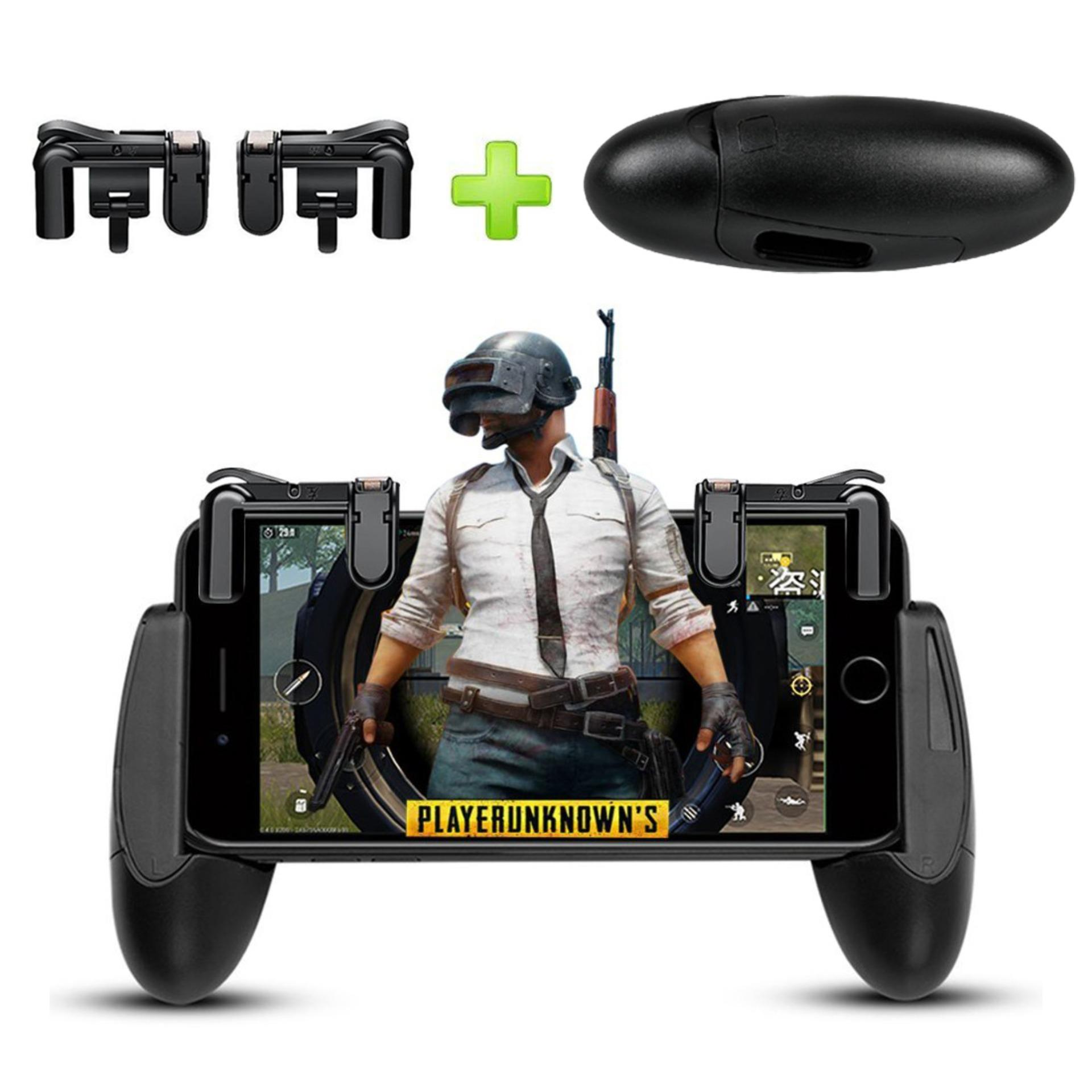 1 Set Gamepad Grip Extended Handle and Survival Game Triggers Eat Chicken Shooting Games Shortcut Key L1R1 Joysticks Trigger Fire Button Aim Key Controller Accessories For PUBG ROS, Rules Of Survival, Last Battle Ground, Survivor Royale, Free Fire - intl