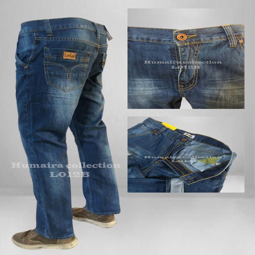 Celana Jeans Pria Lois Reguler - Celana Jeans Standar Biru Wosh Best Seller