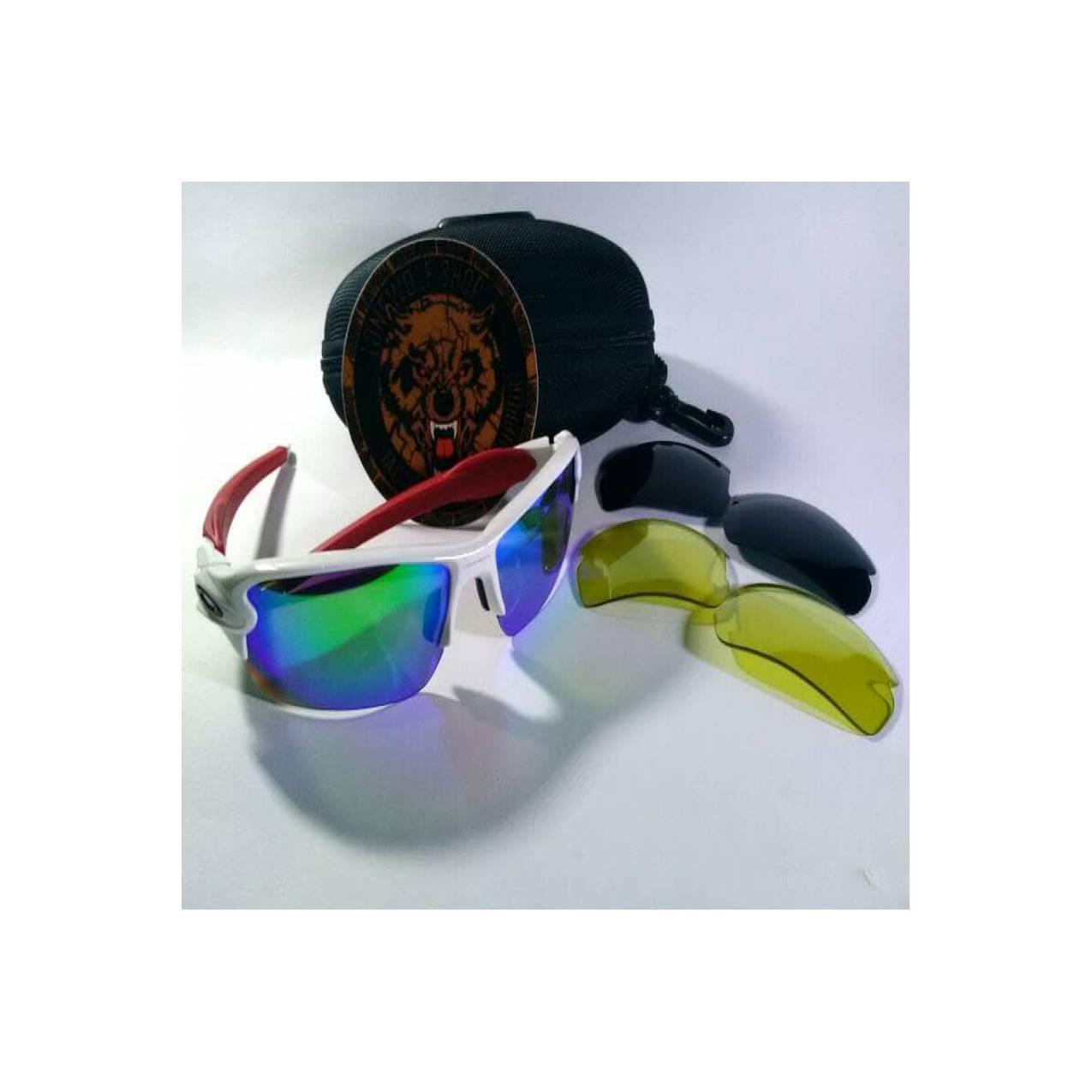 Kacamata Oakley FLAK Versi 2.0 (Frame Putih Merah)