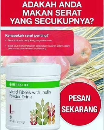 HARGA DISKON!!! mix fiber#herballifee gabungan lipobond n fiber rasa apel bs jne  - YlkgEA
