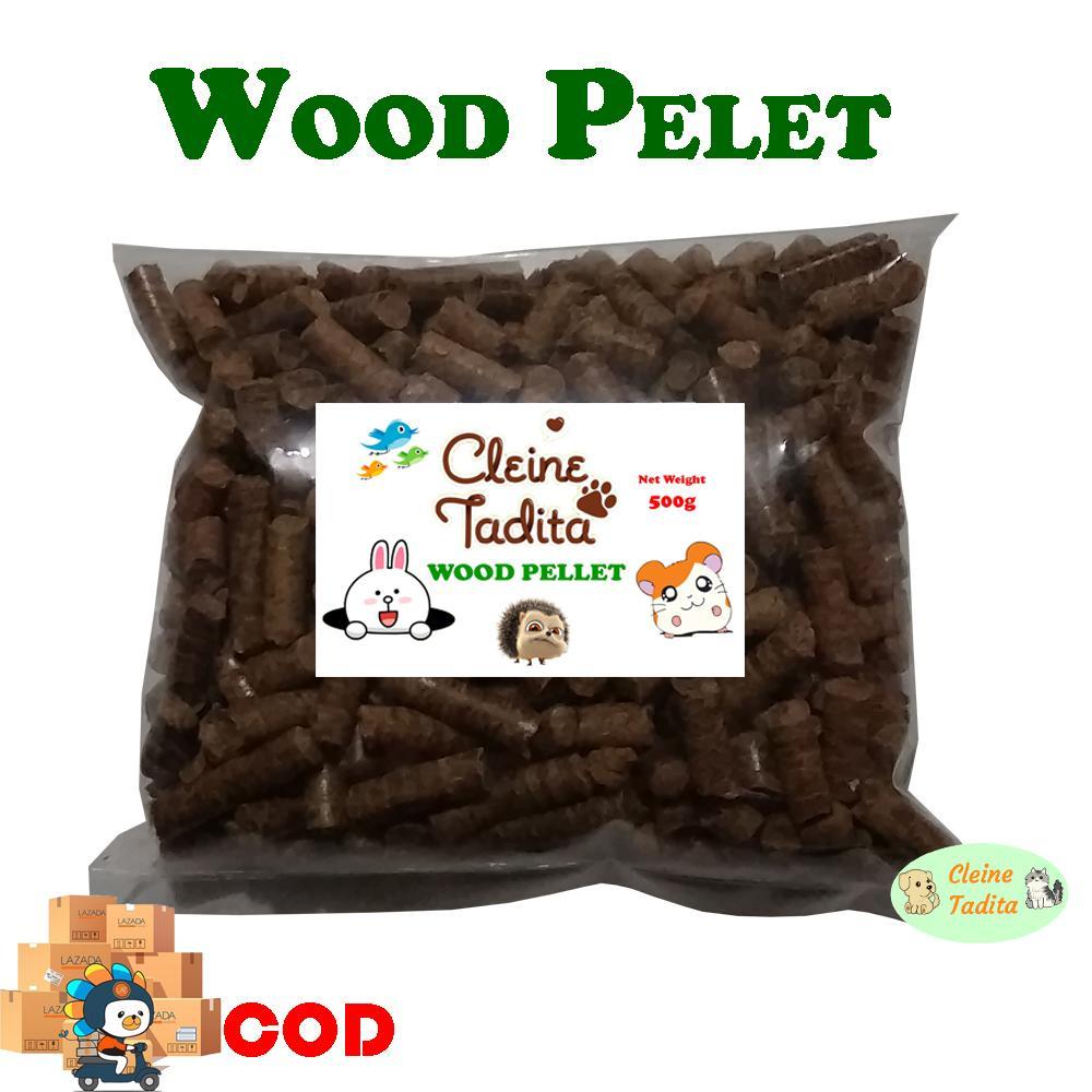 Cleine Tadita Petshop - Wood Pellet / Pelet Kayu / Serbuk Kayu repack 500 grm