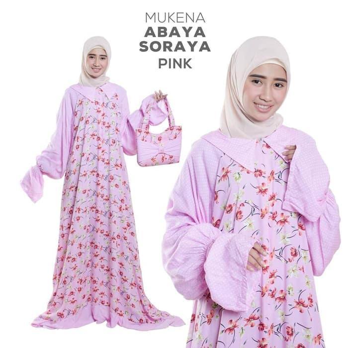 Abaya Soraya Mukena Rukuh Dewasa Rayon Pink