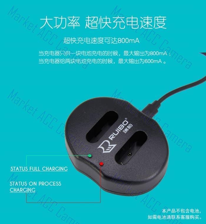 USB Dual Charger for FinePix HS30EXR, HS33EXR, HS35EXR, HS50EXR TERLARIS