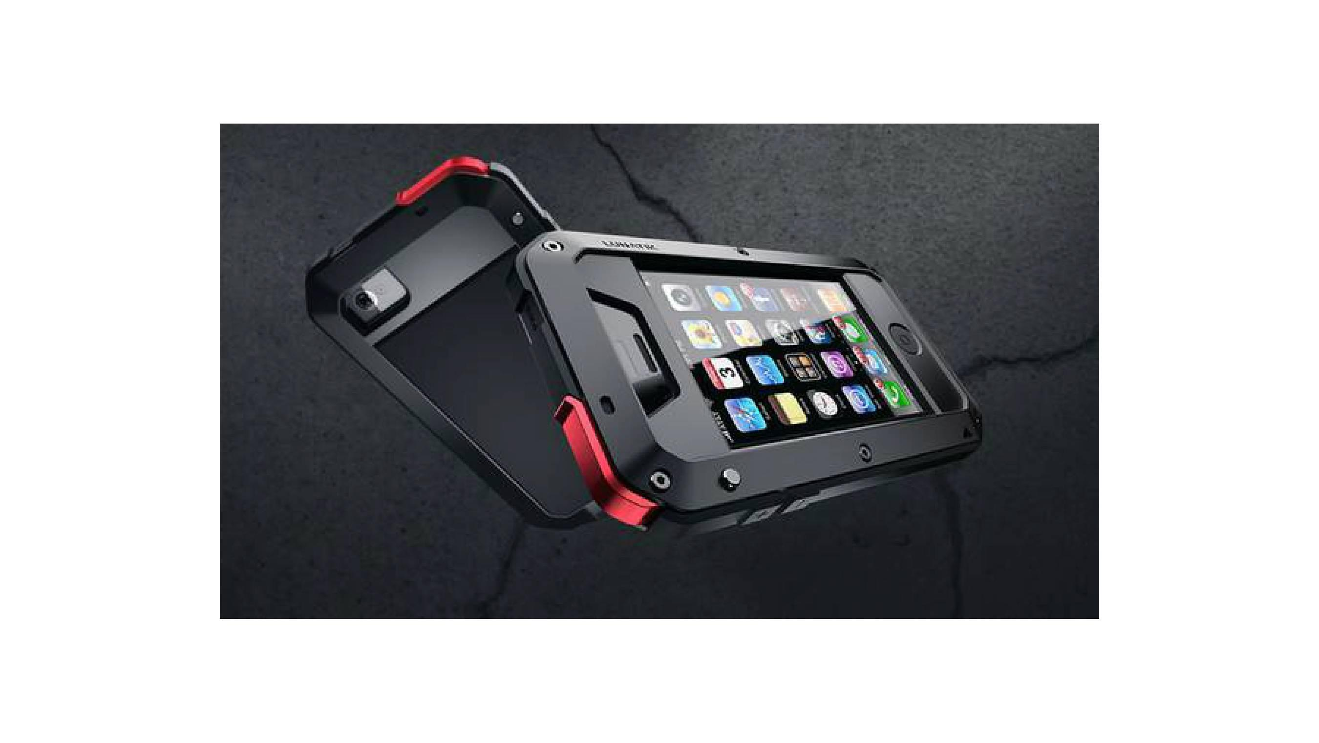 Hard Case iPhone 4-4S LUNATIK Casing Cover Alumini