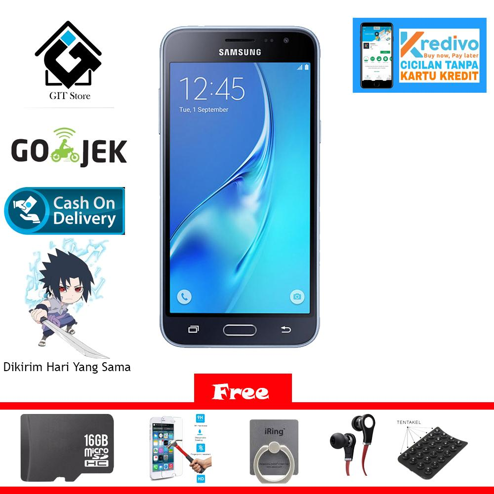 Samsung Galaxy J3 2016 Smartphone - Hitam [8 GB] Free 5 Item