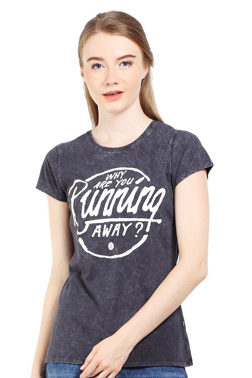 Greenlight Fashion Pakaian T-Shirt Wanita LADIES TSHIRT GREY