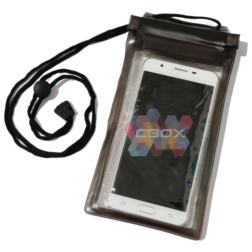 MR Universal Phone Pouch Waterproof Xtra Large Max 6 Inch Kantong Handphone Anti Air XL / Bag Case Water Proof HP / Tas HP Anti Air - Hitam