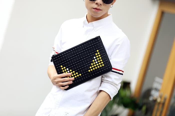 HOT SPESIAL!!! FENDI LIGHT BAG clucth pria tas dompet cowok hand bag kulit - 376No4