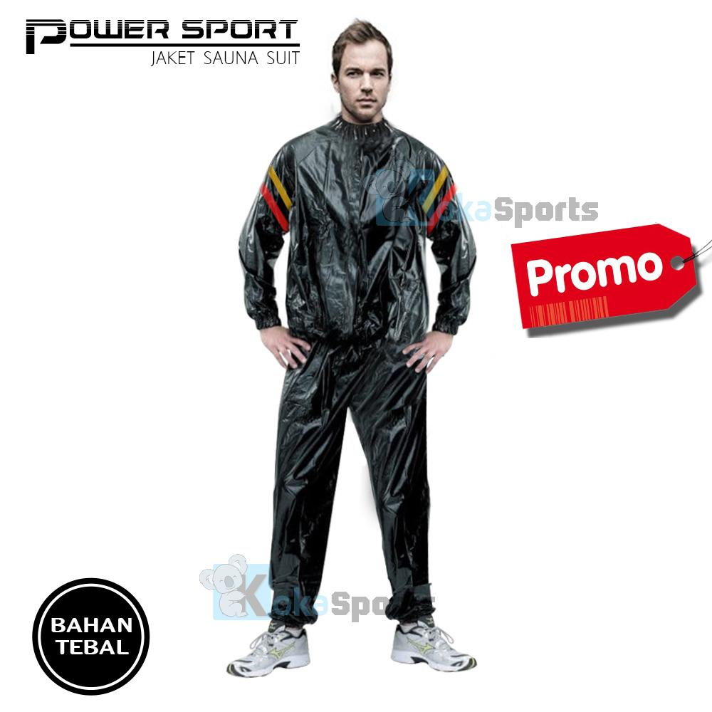 Sport Sauna Suit Baju Sauna Jaket Sauna Pembakar Lemak Promo - Hitam
