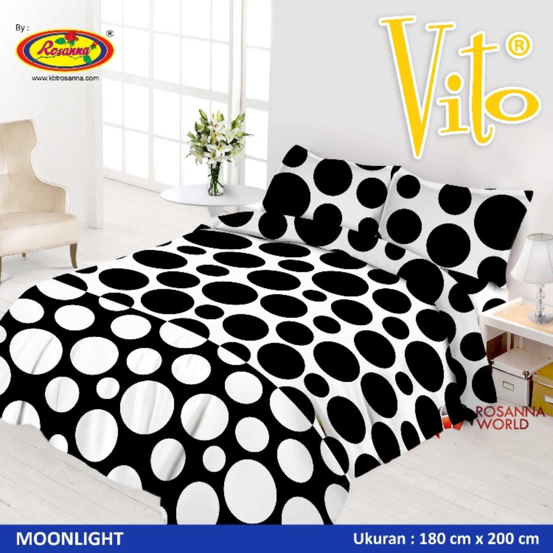 Buy Sell Cheapest Bed Cover Moonlight Best Quality Product Deals Bedcover  Sutra Vito Disperse 180x200 Black White