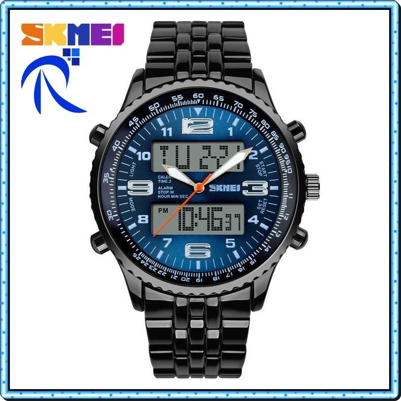 Skmei Casio Men Sport Led Watch Water Resistant 50m - Ad1032 - Jam Tangan Pria Lelaki Laki-Laki Cow