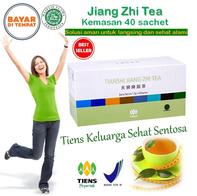 Teh Hijau Peluntur Lemak / Tiens Teh Pelangsing / Diet cara herbal, aman dan manjur / Penurun berat badan / penghilang lemak  - Jiang Zhi Tea 40sachet