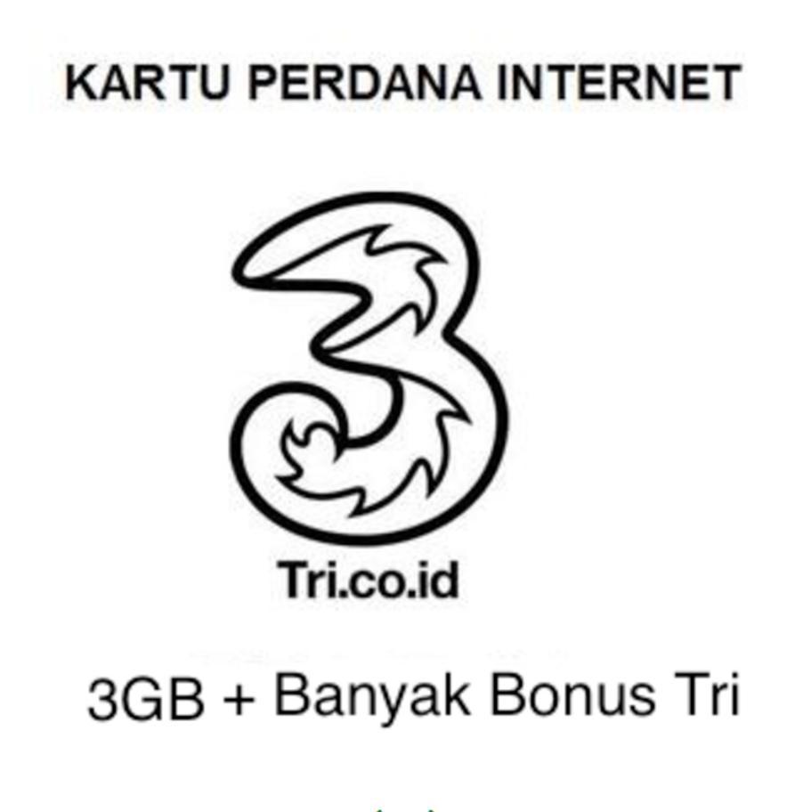 kartu perdana Tri/Three 3 AON internet 3GB reguler PM3 AON3