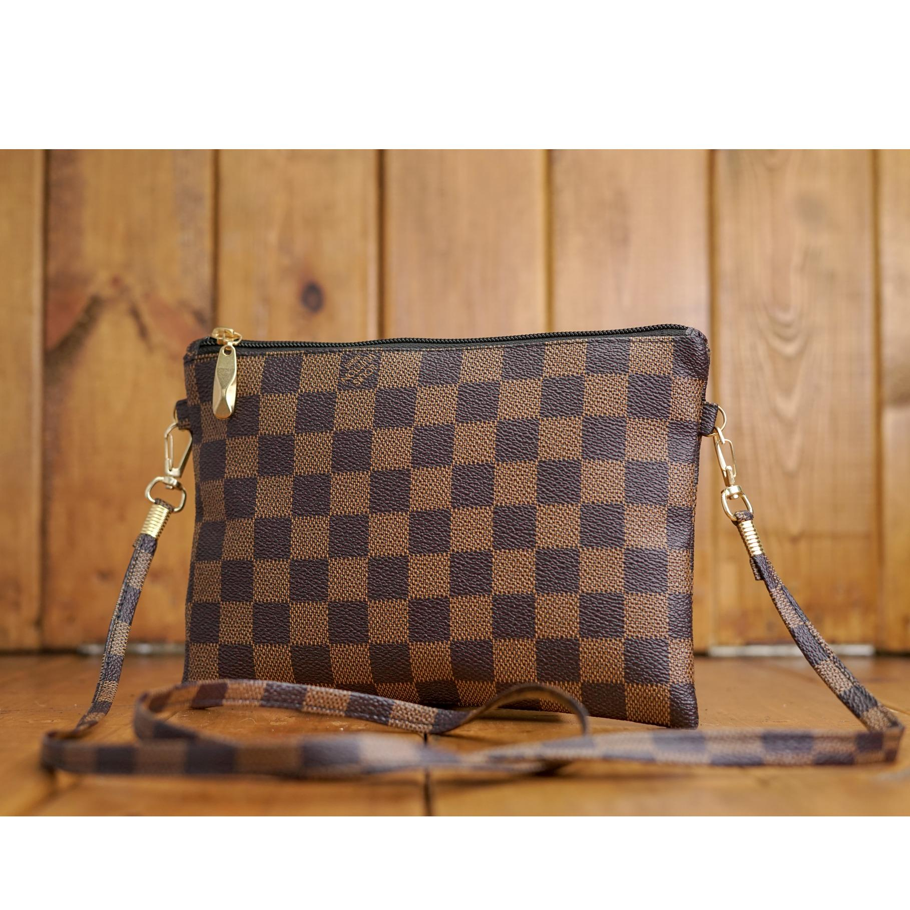 Zelig Official Tas selempang wanita motif kotak-kotak  tas import fashion  wanita Dompet bb53d0646f