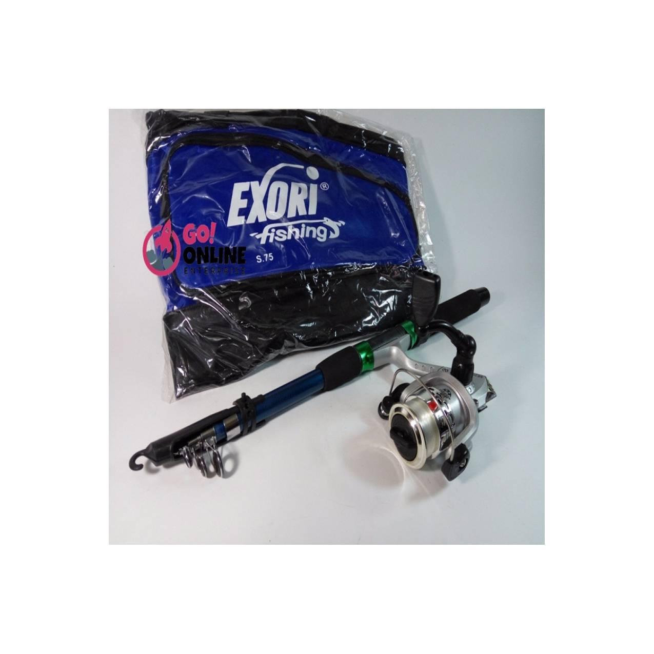 Paket Joran Victori Set Panjang 150cm Rell 3BB Bonus Tas Kantong Bagus