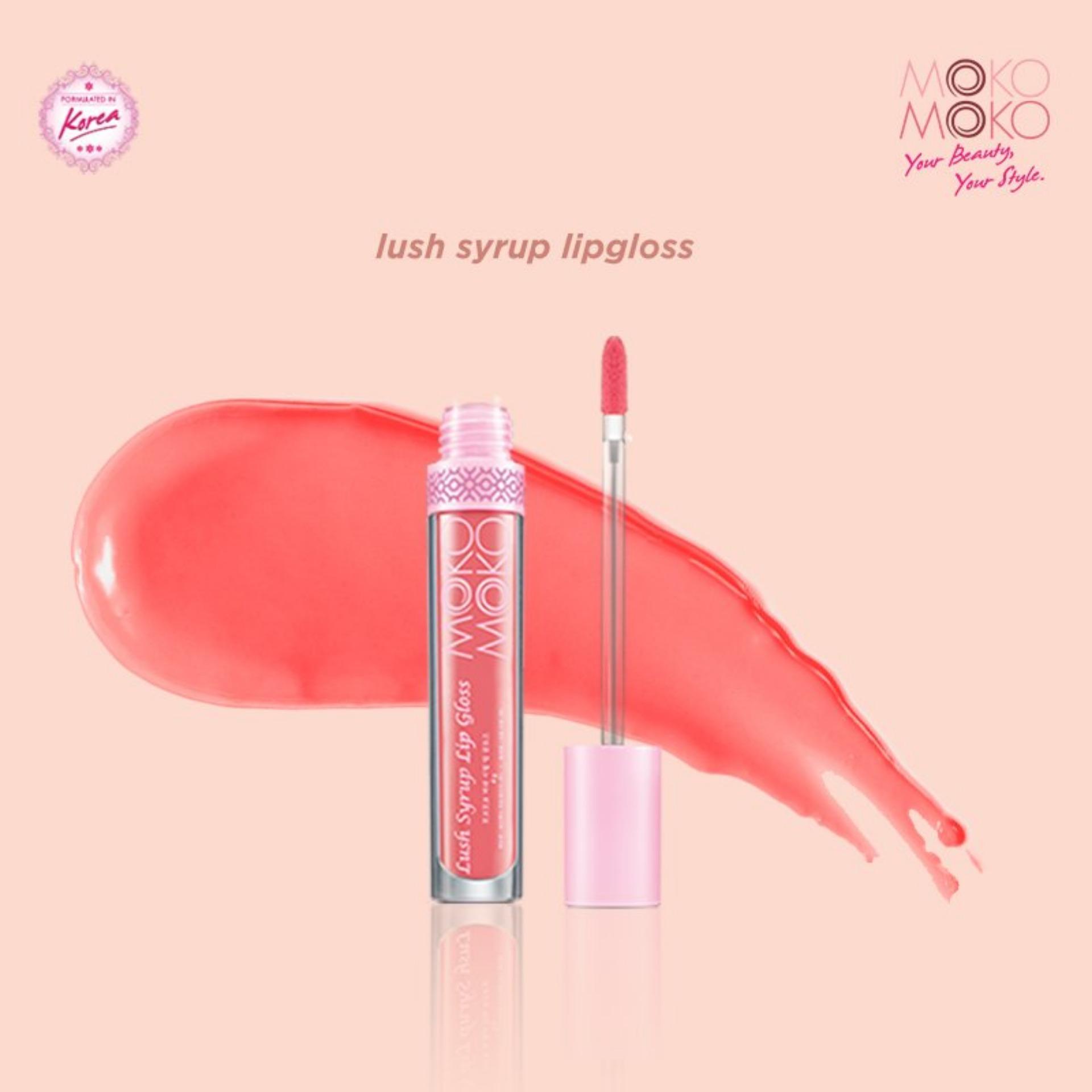 Moko Moko Lush Syrup Lip Gloss (Peach Pink) - Korean Lip Gloss