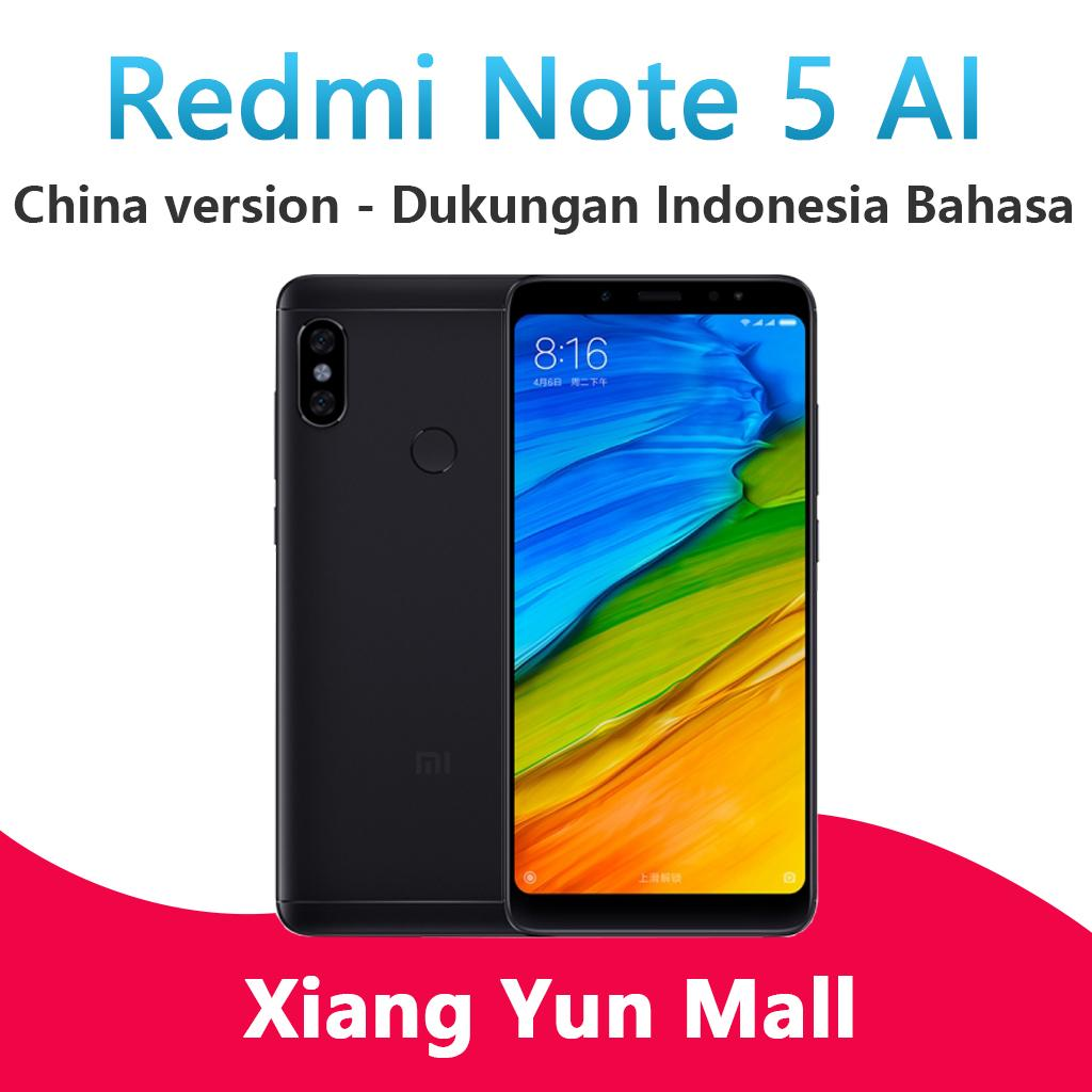 Xiaomi Redmi Note 5 - 4GB/64GB China Version ponsel AI Dukungan Indonesia Bahasa