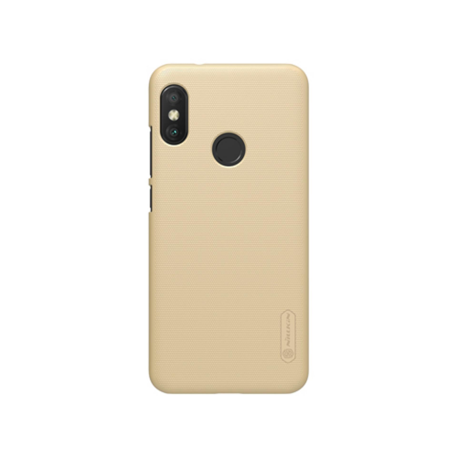 Nillkin ORIGINAL Super Frosted Shield Xiaomi Redmi 6 Pro Gold/Emas Hardcase Backcase Backcover Case
