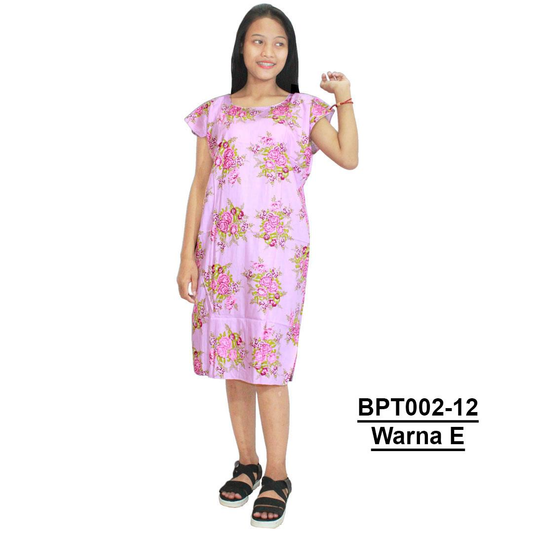 Midi, Daster Midi, Dress Santai, Baju Tidur, Piyama, Atasan Batik (BPT002-12) Batikalhadi Online