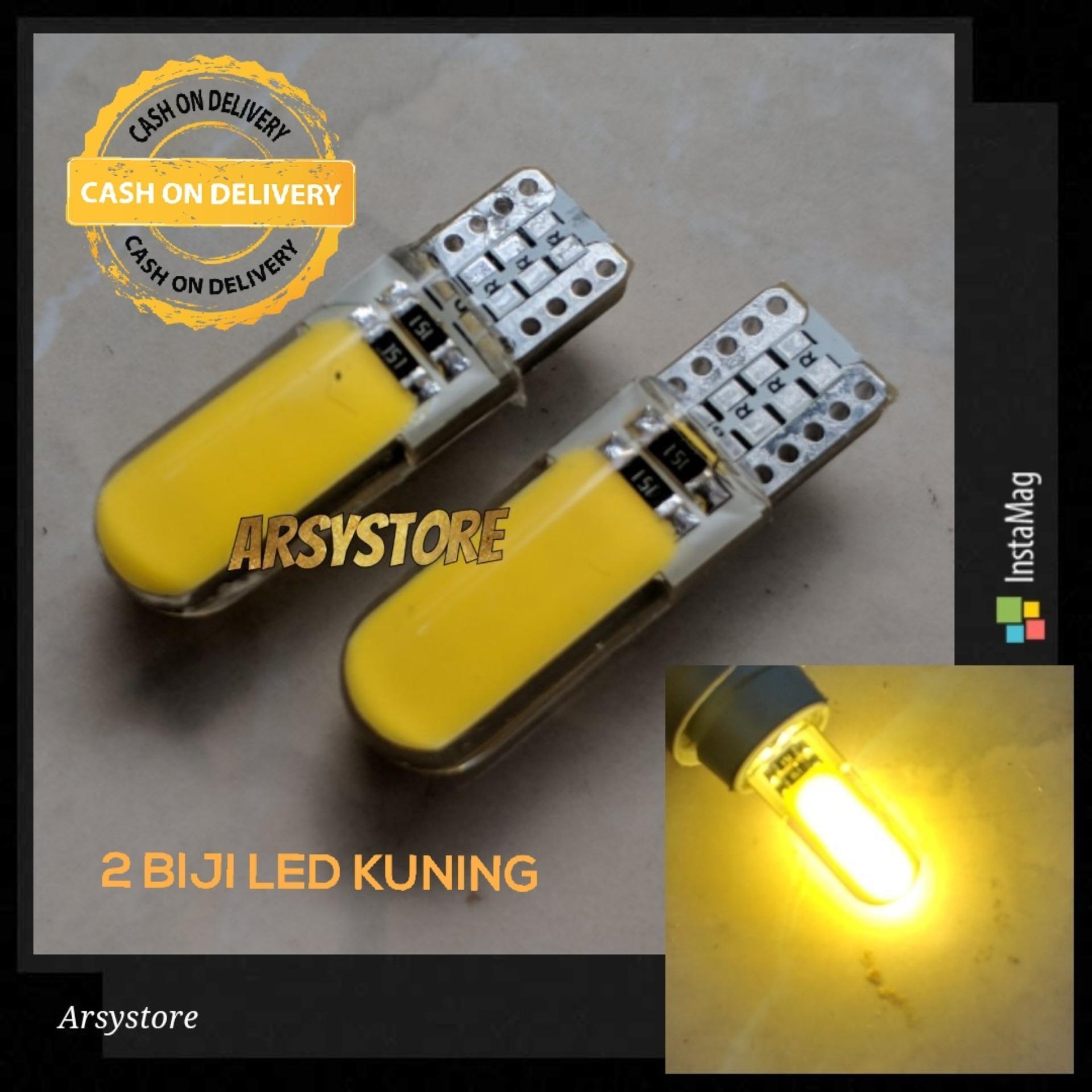 Jual Produk Led Terlengkap Bohlam Lampu Senja T10 11watt Super Terang Nyala Strobo 2 Biji Cob Plasma Silicon Jelly Metal Soket Sein Plat Nomor Mundur
