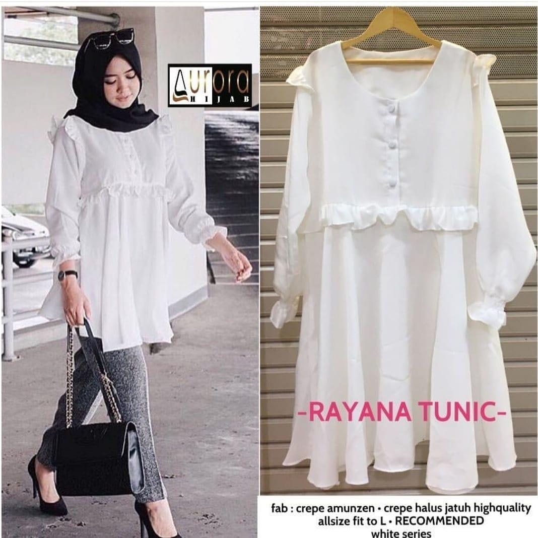 Baju Murah TerbaruBlus Raya Tunik Linen Ruby Panjang Blouse Casual Hijab Tunic Pakaian Terbaru 2018 Modern Fashion Baju Wanita Lengan Panjang Atasan Kerja Trendy Modis