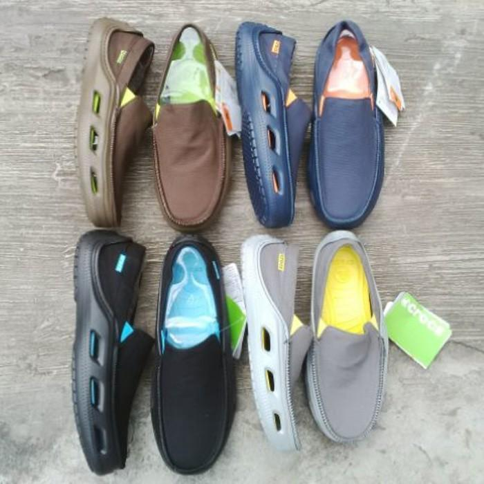 Sepatu Pria / Cowok Crocs Tideline Sport Canvas - Tbuyqx