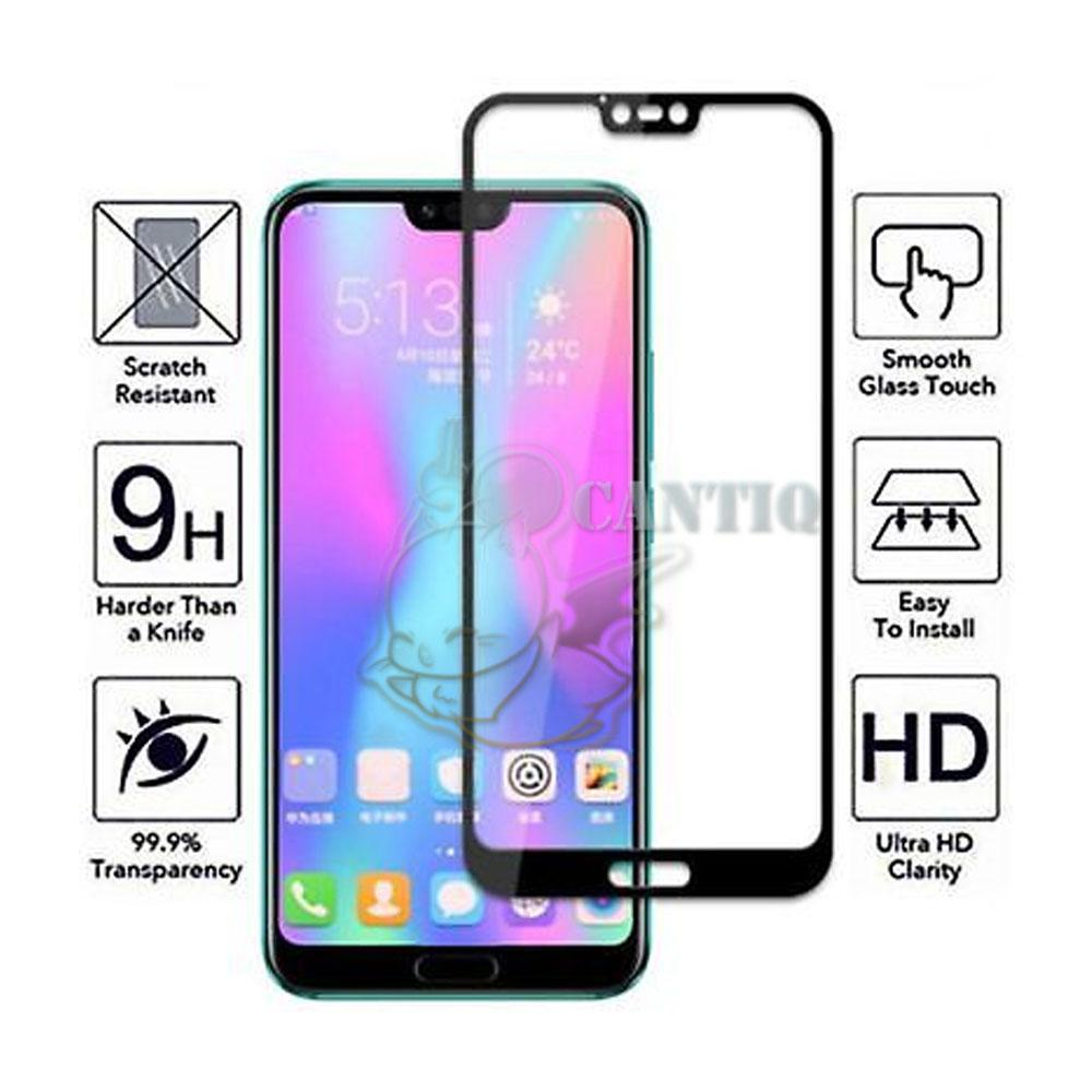 QCF Tempered Glass Full Screen Huawei Honor 10 (Only Depan) / Screen Protector Huawei Honor 10 Tempered Glass Huawei Honor 10 Anti Gores Kaca Huawei Honor ...