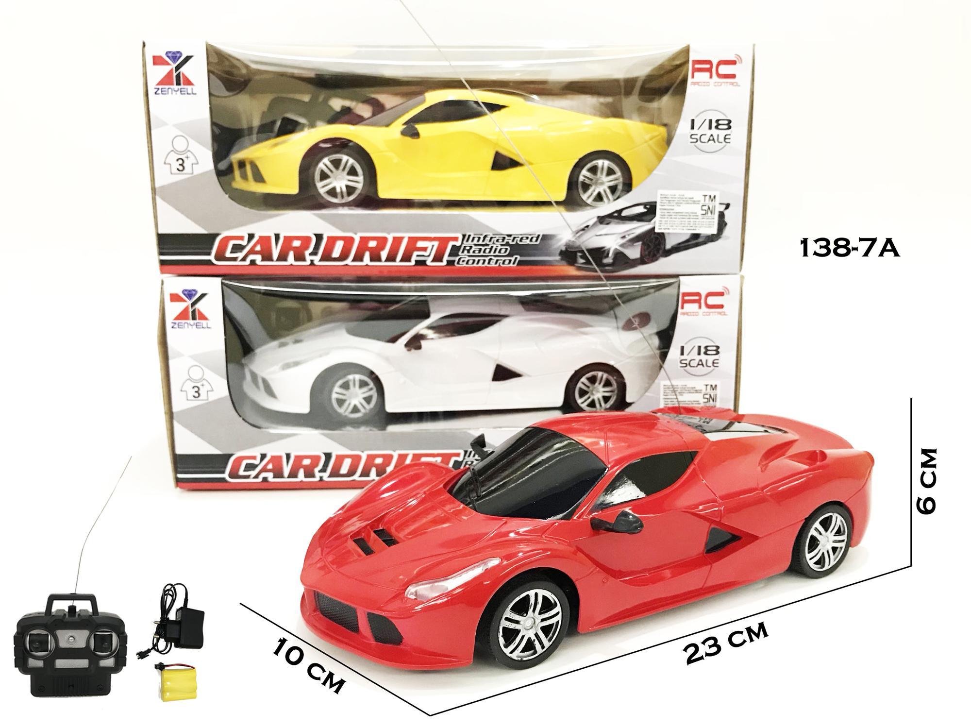 RKJ Mainan Anak RC Mobil Remot Car Drift Racing Ferrari 1:18 138-7A + FREE BATERAI A2