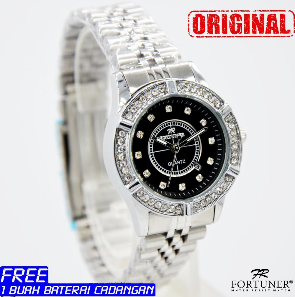 Jam tangan wanita - fortuner - original - stainless steel - water resist - garansi 1 tahun