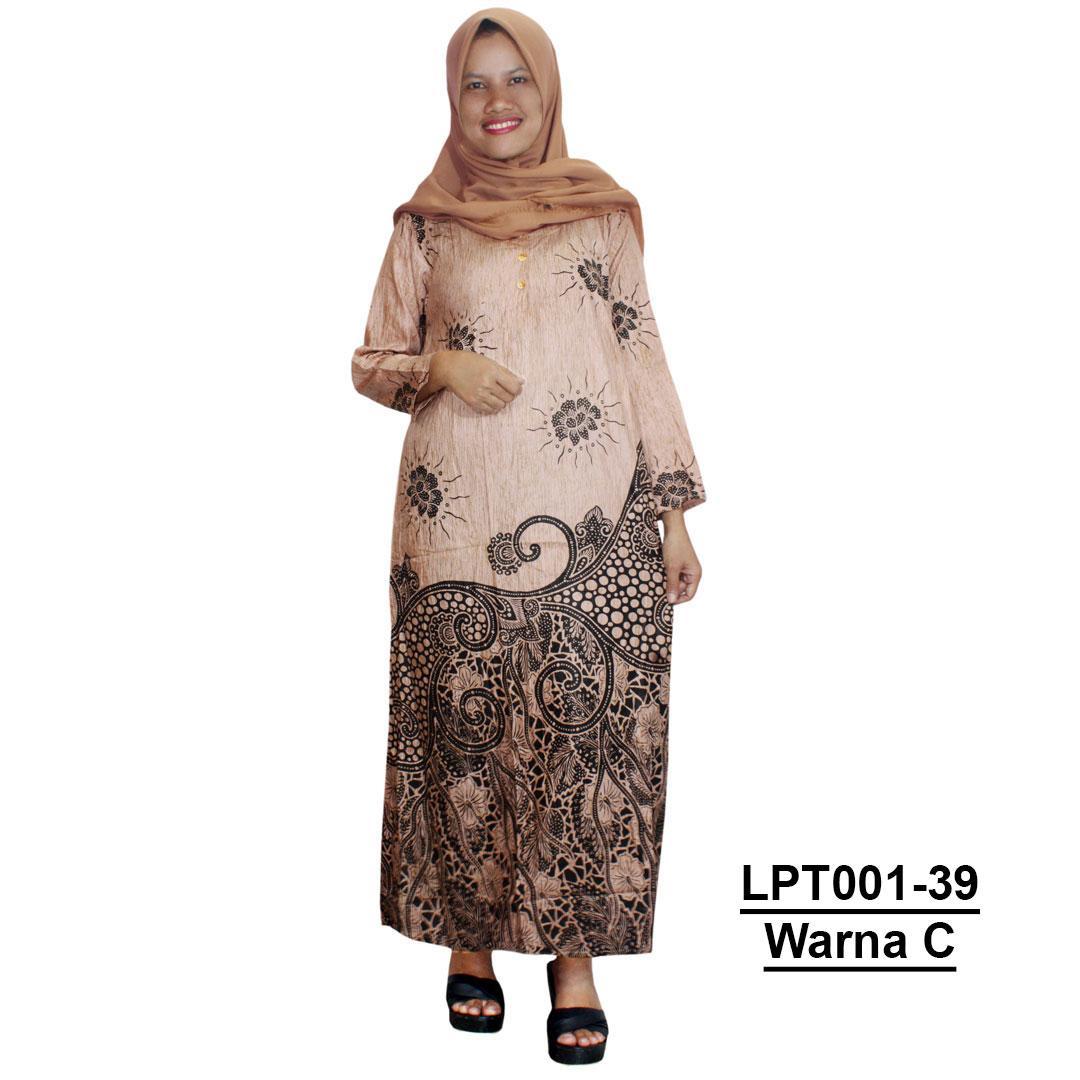 Pakaian Muslim Santai, Longdres Batik, Kancing, Bumil - Busui (LPT001-39) Batikalhadi Online
