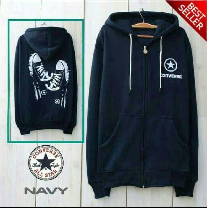Jaket Converse Shoes Navy Sweater Pria Wanita Grosir Murah Bandung / jaket / jaket wanita / jaket dewasa / jaket anak / jaket motif / jaket murah / jaket keren / jaket lucu / jaket berkualitas