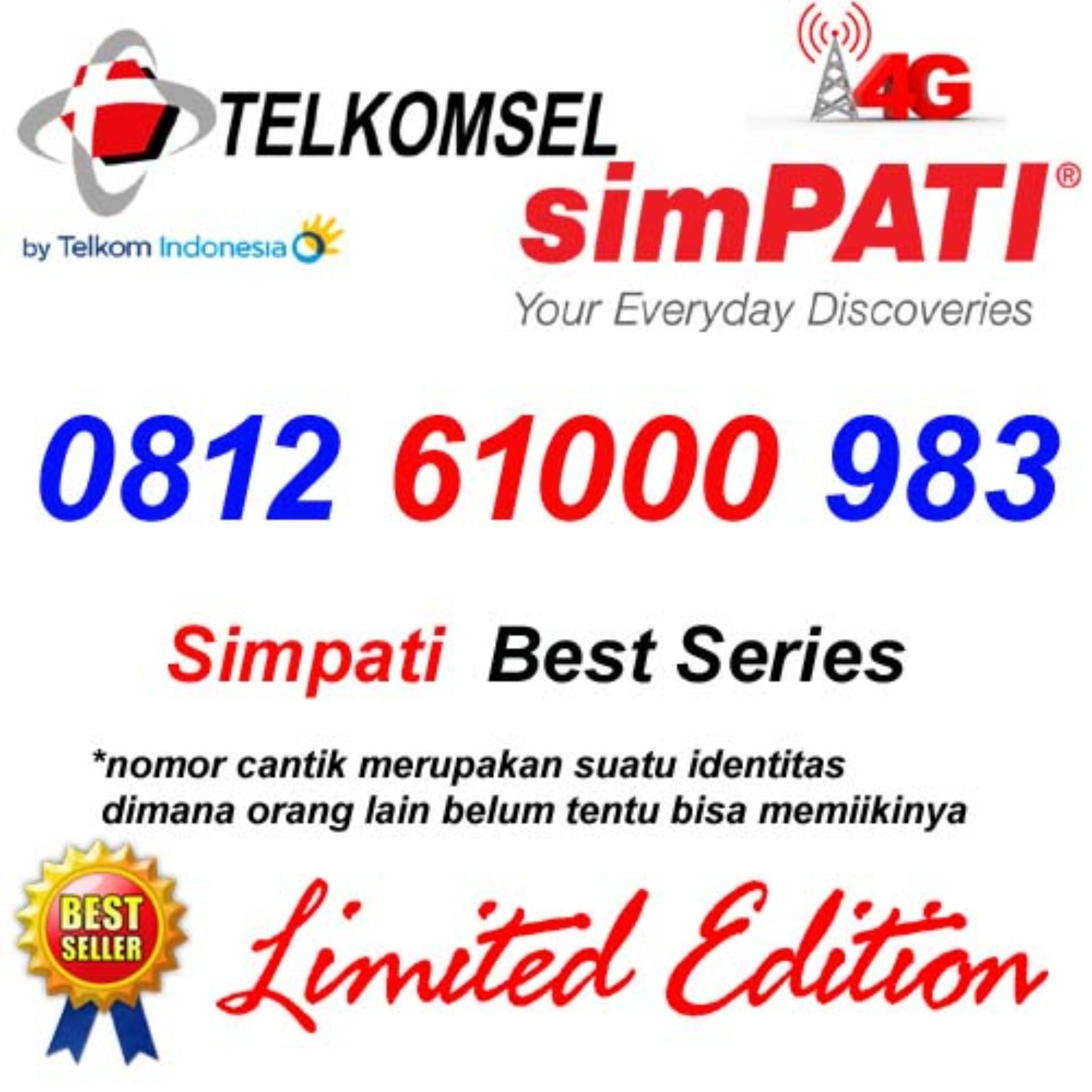Telkomsel Simpati 4G Lte 0812 61000 983 Kartu Perdana Nomor Cantik