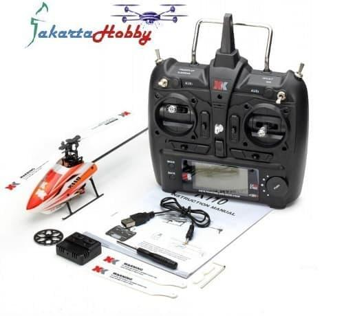 XK K110 6CH Brushless Single Blade RC Helicopter RTF with 3D