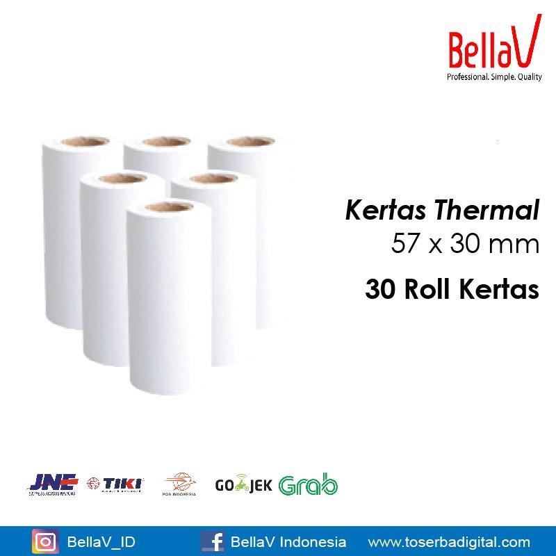 Kertas Thermal Printer Ukuran 57 x 30 (30 Roll)