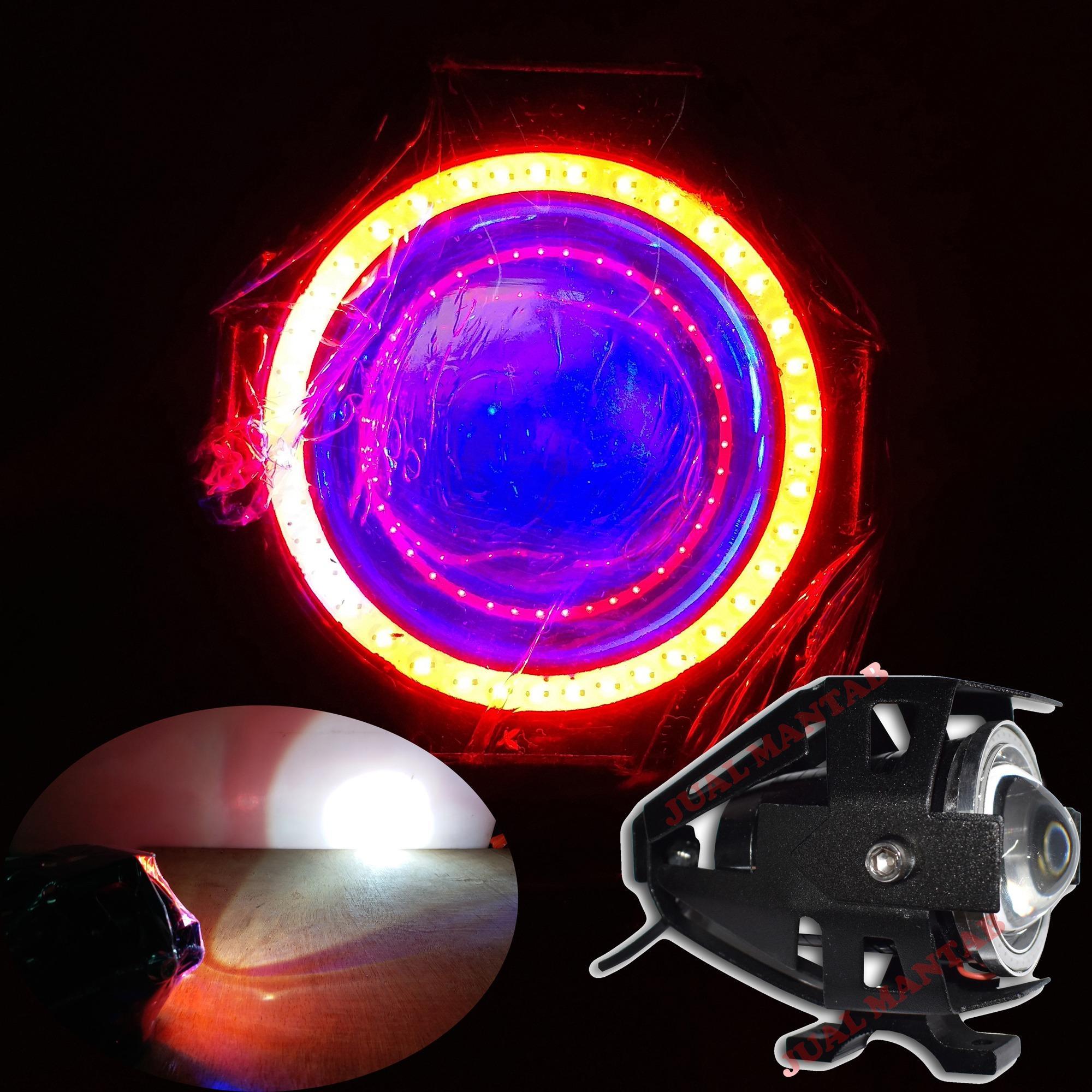 JM Lampu Depan Variasi LED Projector Megatron - Hitam
