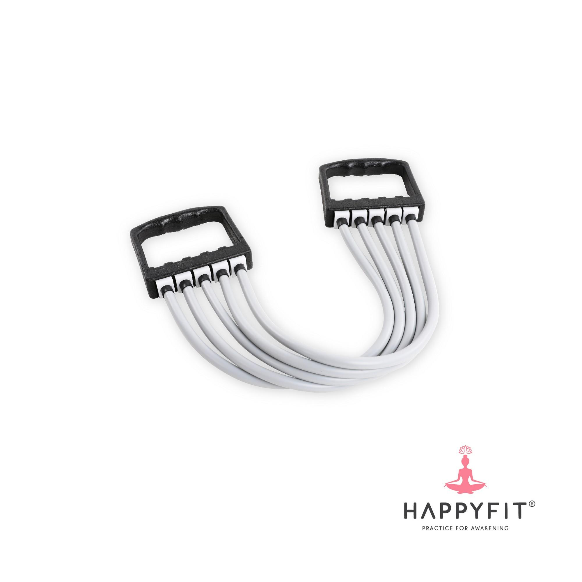 Happyfit Adjustable Chest Expander / Removable 5 Tube Rubber / Yoga Training Rope By Happyfit Indonesia.