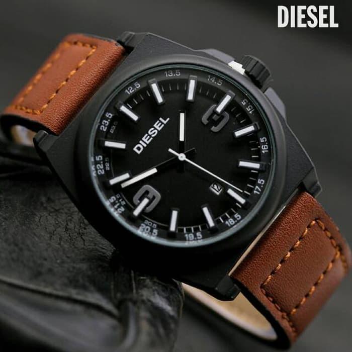 jam tangan pria / jam tangan pria original / jam tangan pria murah, jam tangan pria terbaru, jam tangan pria anti air / jam tangan pria 2018 / jam tangan pria terbaik / Jam Tangan Pria / Cowok Murah Diesel Torez Leather Brown White DISKON MURAH!!!